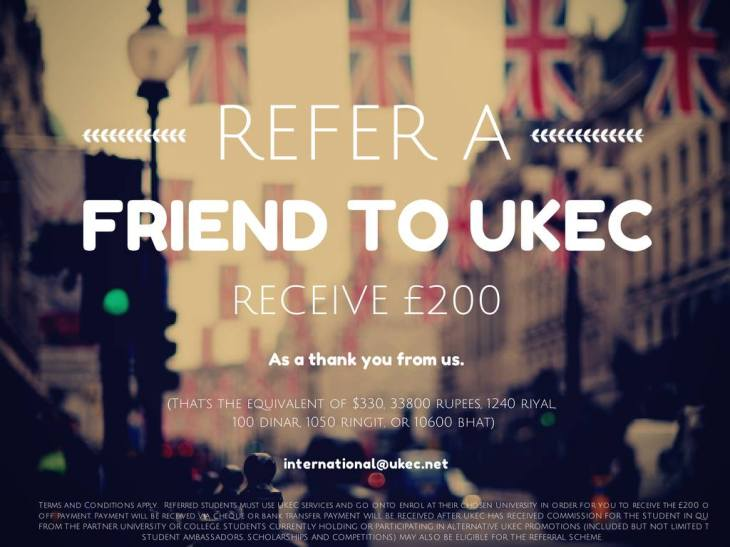 The UKEC Friend Referral Scheme