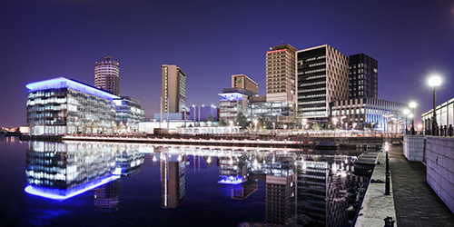 MediaCity_at_night