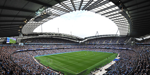 General view of the Etihad Stadium before the Barclays Premier L