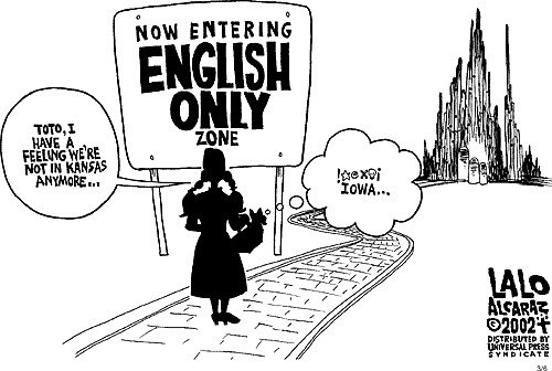 English Only Zone